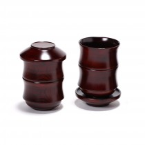 대나무형 옻칠 컵